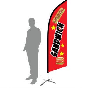 drapeau-publicitaire-sandwich-rouge