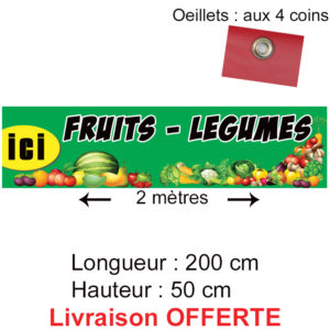 banderole fruits légumes