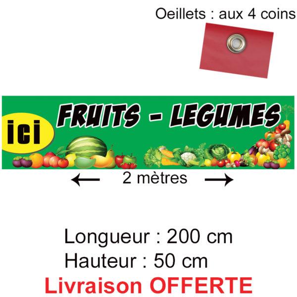 banderole fruits légumes