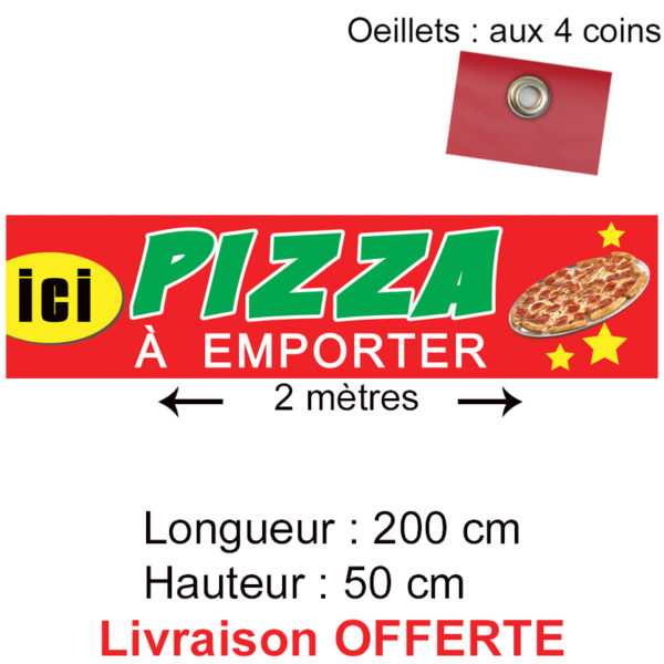 bache pizza à emporter
