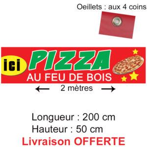 banderole bache pizza feu de bois
