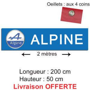 banderole voiture alpine