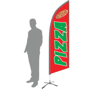 drapeau pizza rouge