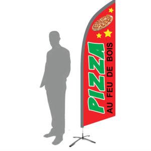 drapeau pizza au feu de bois
