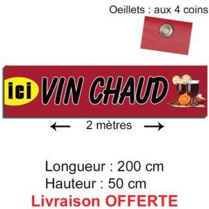 banderole personnalisée vin chaud