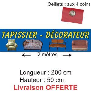 banderole tapissier décorateur