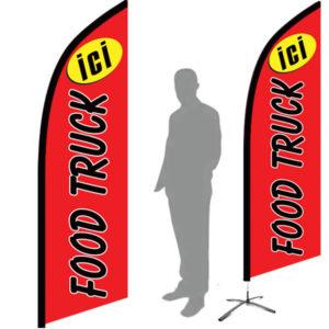 drapeau imprimée food truck pas cher